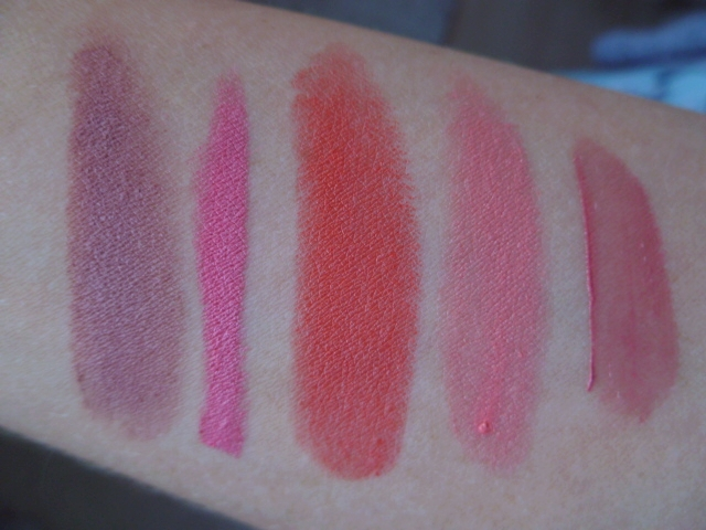 From Left to Right: Velvet Teddy, In With Coral, Gay Geranium, Ohh La La, Happy Nude Year